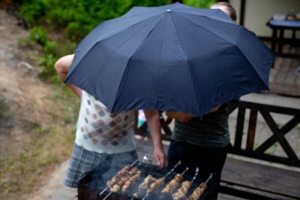 grilling in rain